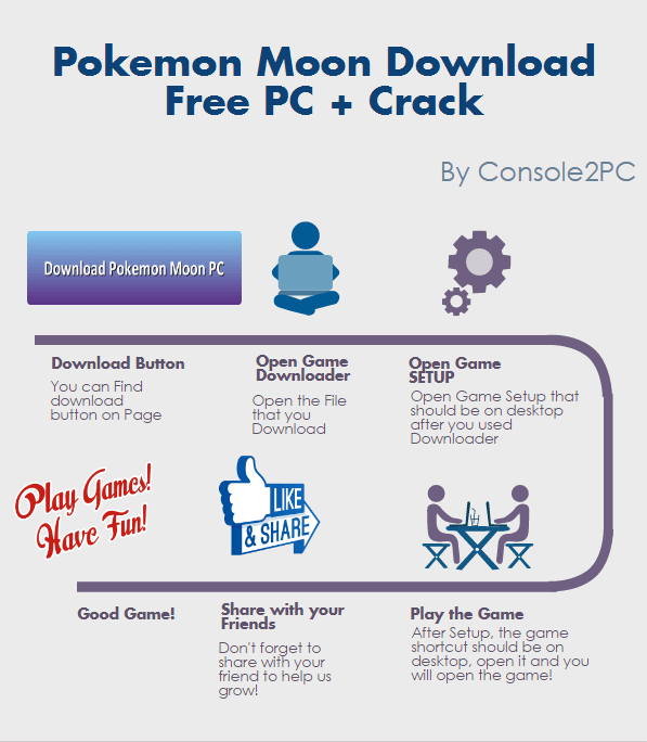 Pokemon Moon PC Download Free + Crack - Console2PC