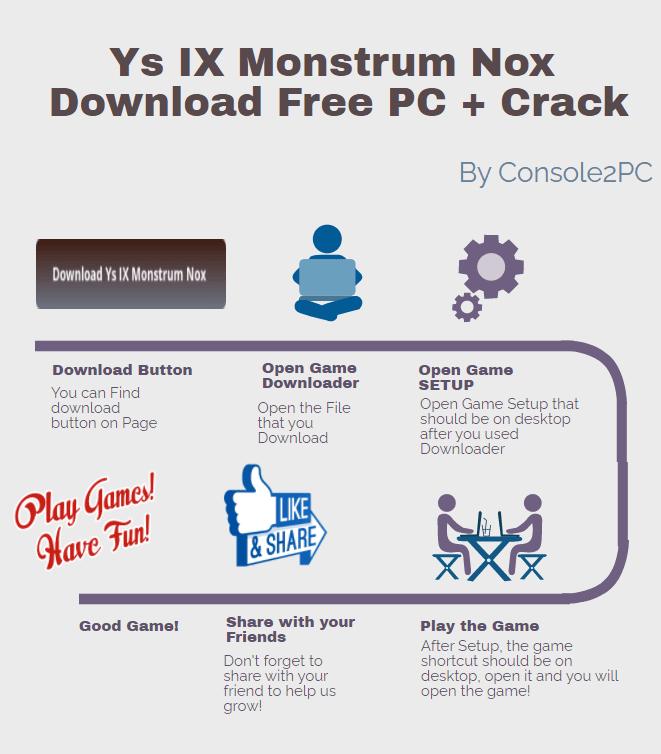 Ys IX Monstrum Nox pc version
